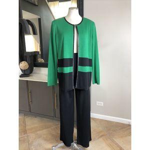 Exclusively Misook cardigan  & black pants L